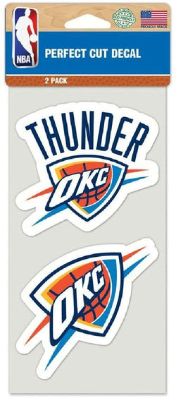 "NBA Oklahoma City Thunder Perfect Cut Decal Set of Two 4"" by 4"""