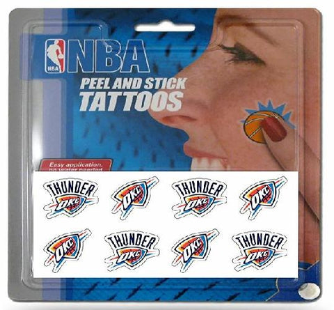 NBA Oklahoma City Thunder Face Tattoos Eight Pieces OKC Thunder