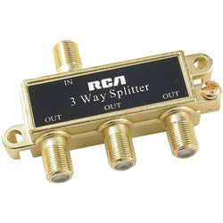 RCA Passive 75 Ohm RF Coaxial Cable Splitter 1 Input 3 Output