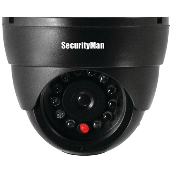 Security Man Dummy Indoor Dome Camera with Flashing LED Light Ships from USA
