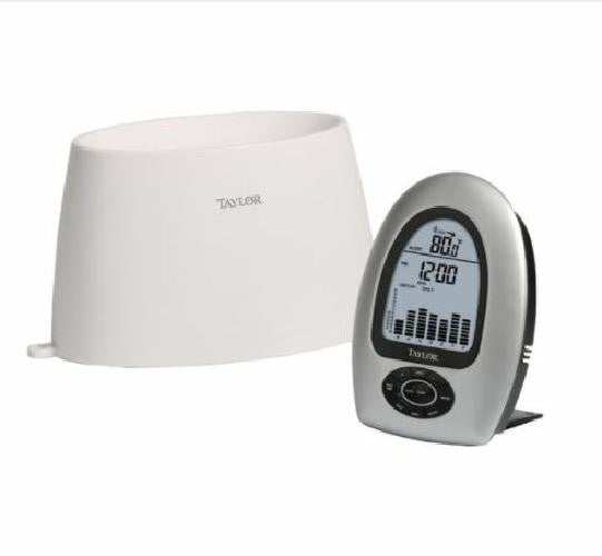 Taylor Digital Wireless Rain Gauge and Indoor Outdoor F C Temperature