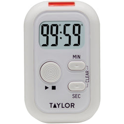 Taylor Digital Clip Timer with Red Flashing Light Sound Vibration