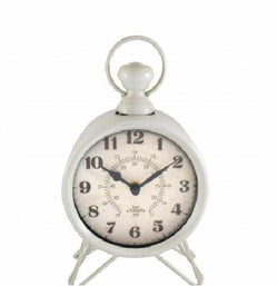 Westclox Charming White Battery Operated Analog Metal Table Clock