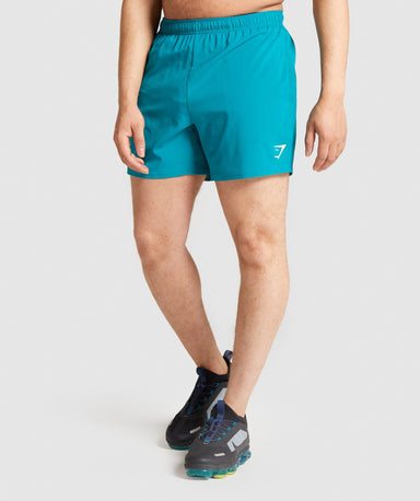 Shop Gymshark Arrival 5 Shorts - Teal From GS | AROS
