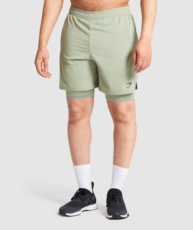 Shop Gymshark Aspect 2 In 1 Shorts - Light Green From GS | AROS