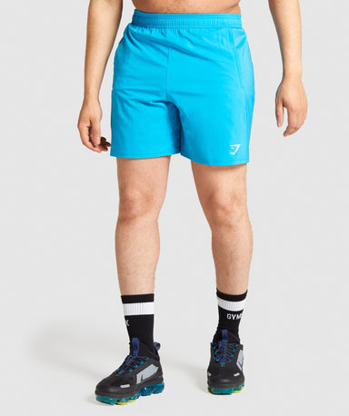 Shop Gymshark Aspect Shorts - Blue From GS | AROS