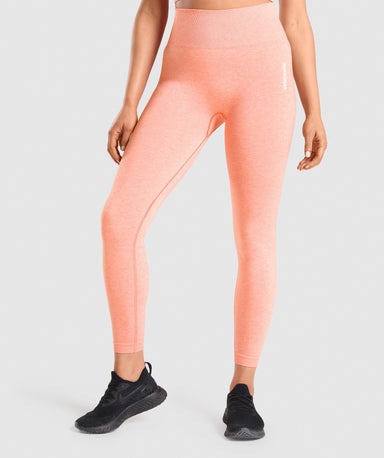 Shop Gymshark Adapt Marl Seamless Leggings - Orange From GS | AROS