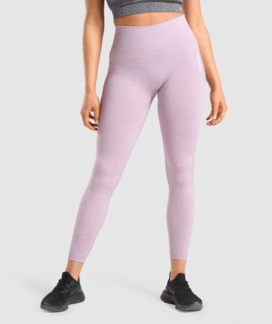 Shop Gymshark Adapt Marl Seamless Leggings - Light Purple From GS | AROS