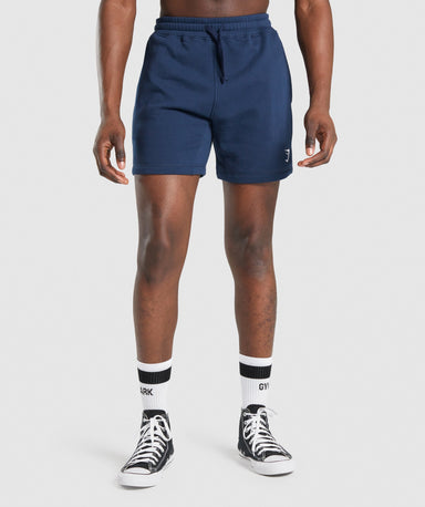 Shop Gymshark Crest Shorts - Navy From GS | AROS