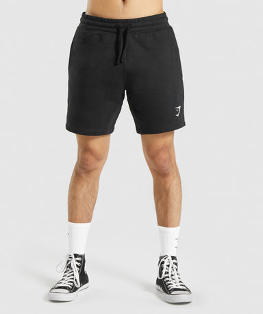 Shop Gymshark Crest Shorts - Black From GS | AROS