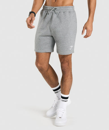 Shop Gymshark Crest Shorts - Charcoal Marl From GS | AROS