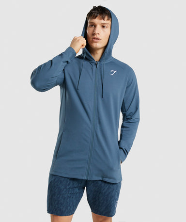 Shop Gymshark Critical Zip Hoodie - Teal From GS | AROS