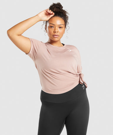 Shop Gymshark Essential Tee - Taupe From GS | AROS