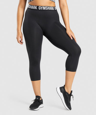 Shop Gymshark Fit Seamless Cropped Leggings - Black From GS | AROS