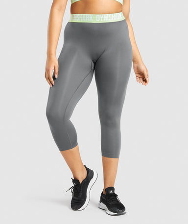 Shop Gymshark Fit Seamless Cropped Leggings - Charcoal Grey From GS | AROS