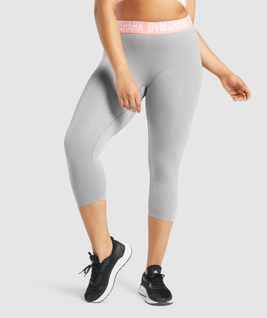 Shop Gymshark Fit Seamless Cropped Leggings - Smokey Grey From GS | AROS