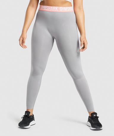 Shop Gymshark Fit Seamless Leggings - Smokey Grey From GS | AROS