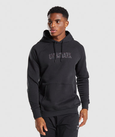 Shop Gymshark Outline Hoodie - Black From GS | AROS