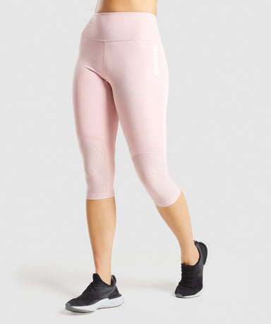 Shop Gymshark Pulse Cropped Leggings - Light Pink From GS | AROS