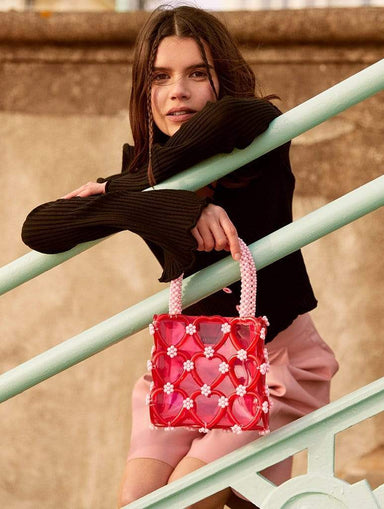 Shop Penelope Heart Beaded Tote Bag From SDL | AROS