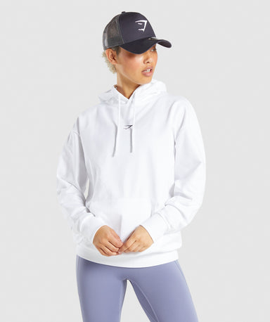 Shop Gymshark Strobe Graphic Hoodie - White From GS | AROS