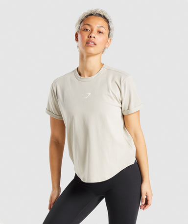 Shop Gymshark Strobe Graphic T-Shirt - Grey From GS | AROS