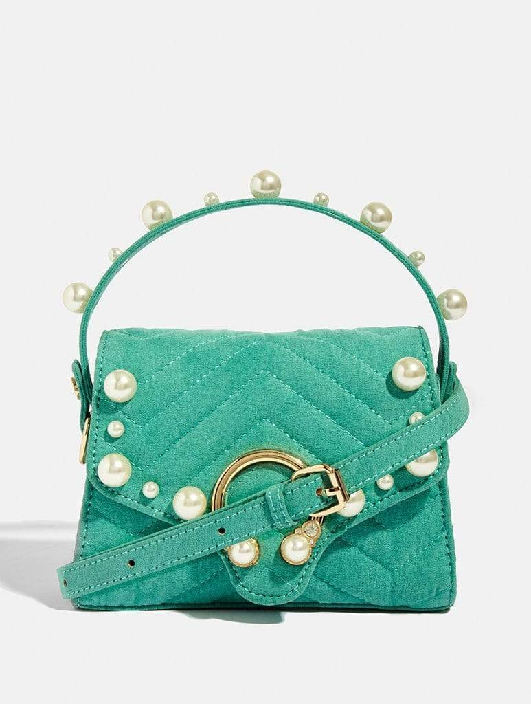 Shop Pearl Teal Cross Body Bag From SDL | AROS