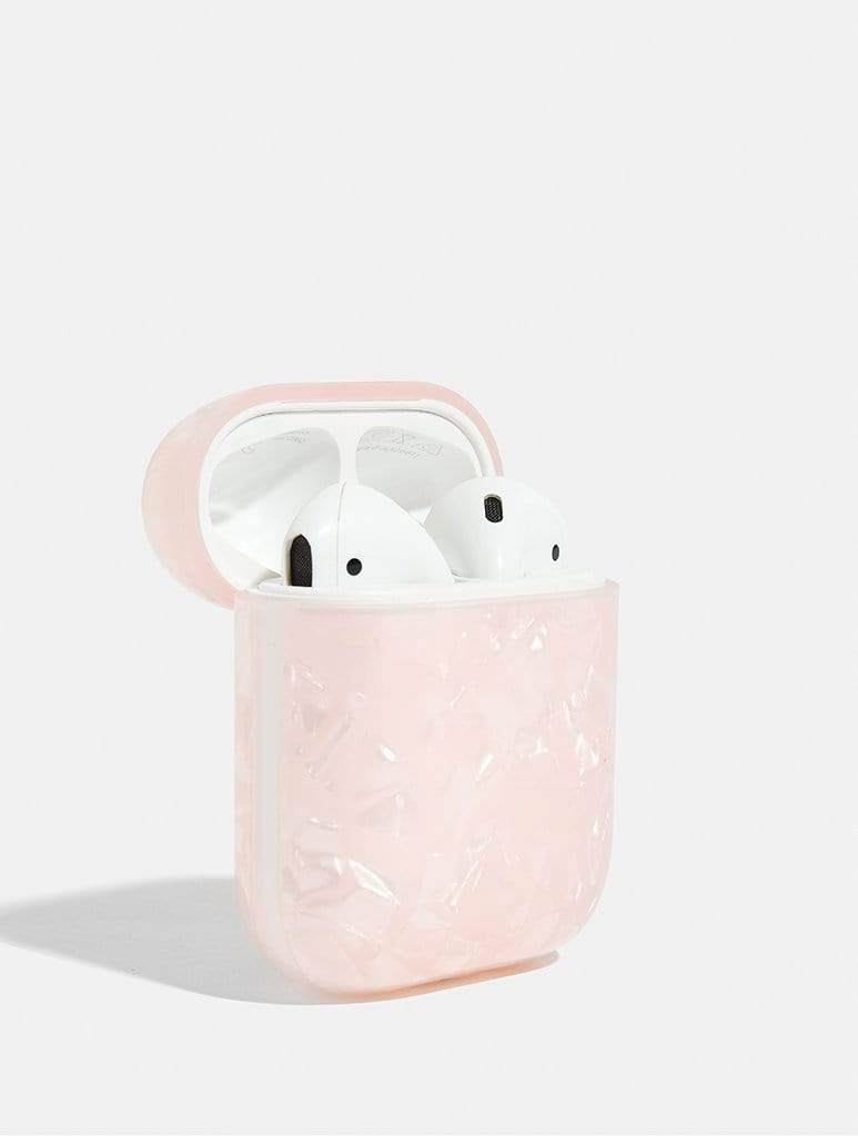 Shop Pink Pearl Stone AirPods Case From SDL | AROS