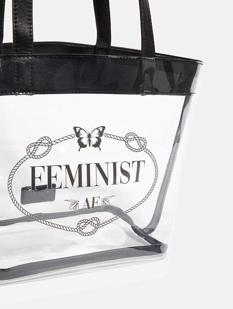 Shop Feminist AF Clear Tote Bag From SDL | AROS
