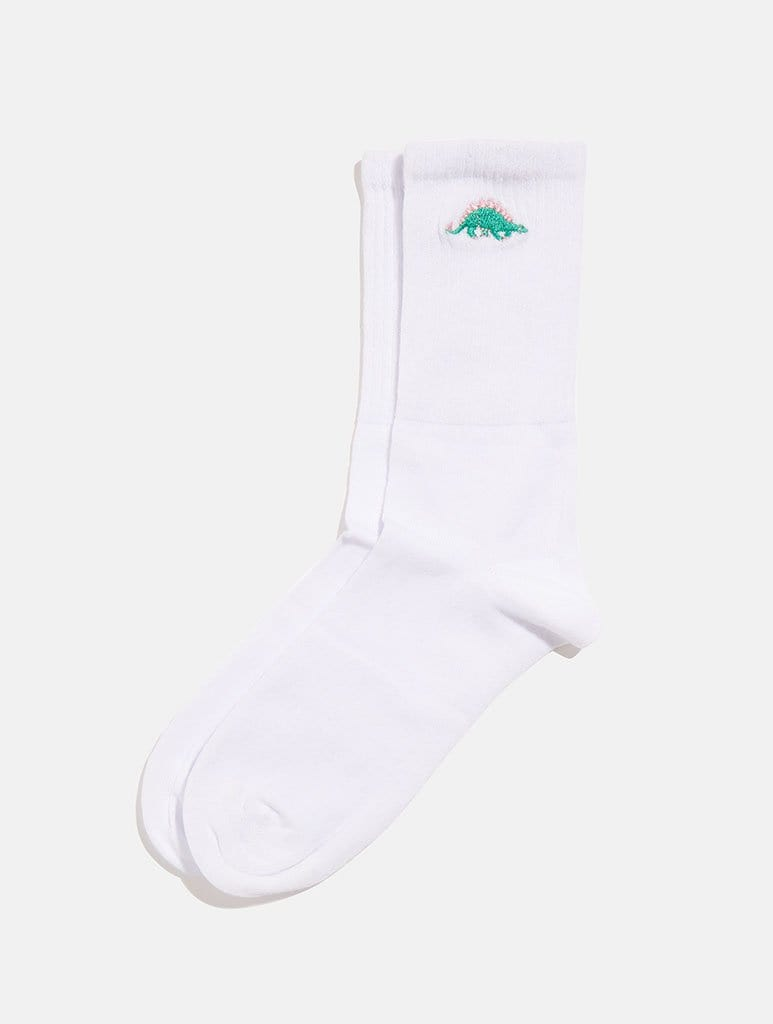 Shop Dino Embroidered Socks From SDL | AROS