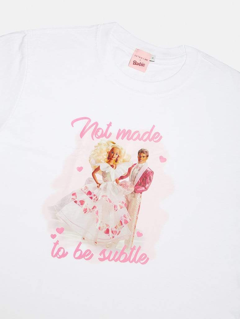 Shop Barbie x Skinnydip Not Made To Be Subtle Oversized T-Shirt From SDL | AROS
