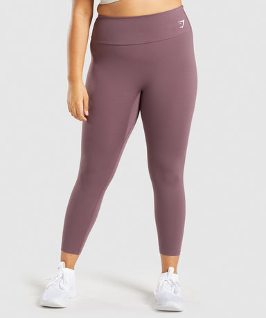 Shop Gymshark Training 7/8 Leggings - Brown From GS | AROS