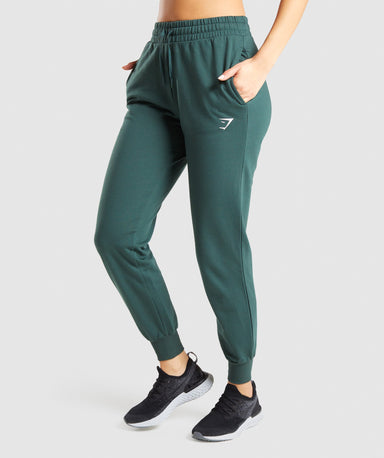 Shop Gymshark Training Joggers - Dark Green From GS | AROS