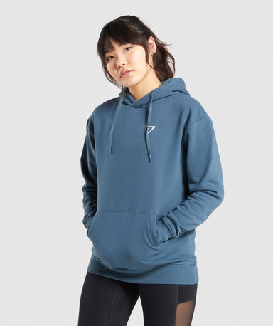 Shop Gymshark Training Oversized Hoodie - Teal From GS | AROS