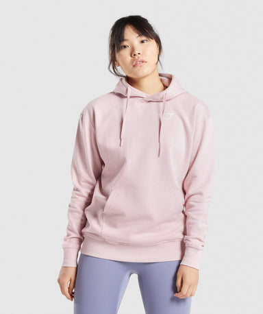 Shop Gymshark Training Oversized Hoodie - Light Pink From GS | AROS