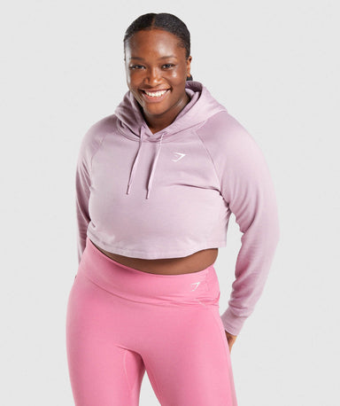 Shop Gymshark Training Cropped Hoodie - Light Purple From GS | AROS