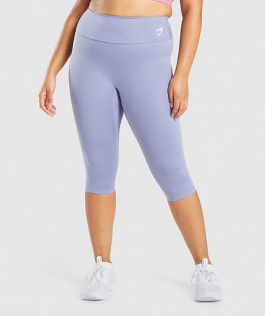 Shop Gymshark Training Cropped Leggings - Light Blue From GS | AROS