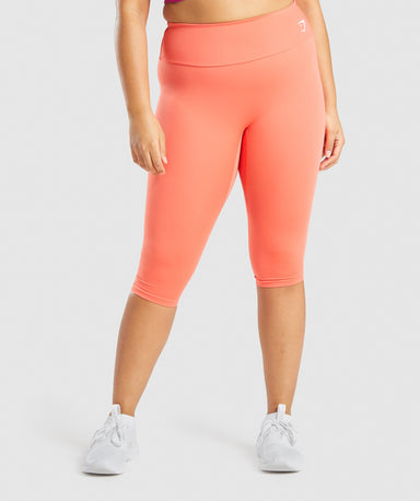 Shop Gymshark Training Cropped Leggings - Orange From GS | AROS