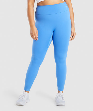Shop Gymshark Training Leggings - Blue From GS | AROS