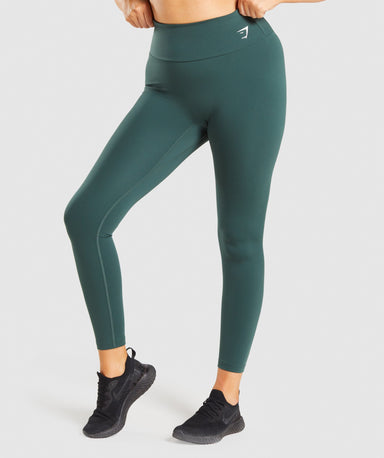 Shop Gymshark Training Leggings - Dark Green From GS | AROS