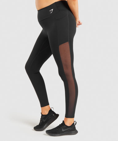 Shop Gymshark Training Mesh Pocket Leggings - Black From GS | AROS