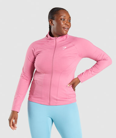 Shop Gymshark Training Zip Up Jacket - Pink From GS | AROS