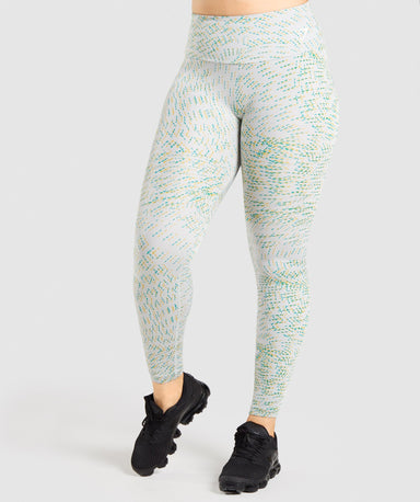 Shop Gymshark Training Leggings - Light Grey Print From GS | AROS