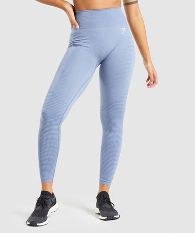 Shop Gymshark Vital Seamless 2.0 Leggings - Blue Marl From GS | AROS