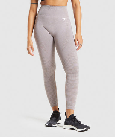 Shop Gymshark Vital Seamless 2.0 Leggings - Taupe Marl From GS | AROS