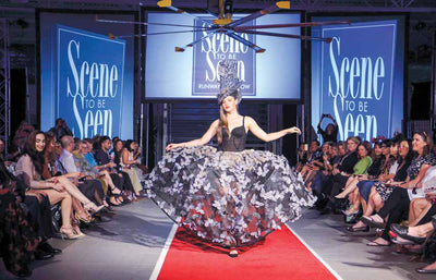 "Naples Daily News Announces: Amanda Jaron to Chair Inaugural Wearable Arts Fashion Show. Amanda coins name, ""Scene to be Seen"""