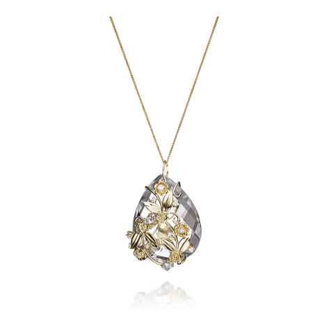 Growth Pendant Necklace in 18KT Gold