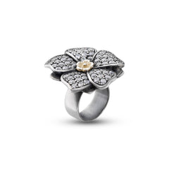 LUSH Floral Ring in Sterling Silver