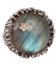 Load image into Gallery viewer, Labradorite Cupcake sterling silver/14kt gold