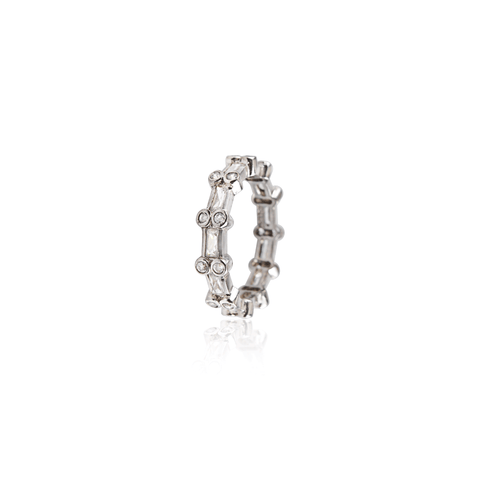 White Gold Double Diamond Eternity Band